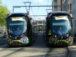 """Les rames 2072 et 2074 photographiées à la station """"Moularès - Hôtel de Ville"""""""