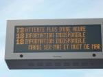 """Tableau électronique d'information de la station """"Lattes Centre"""""""