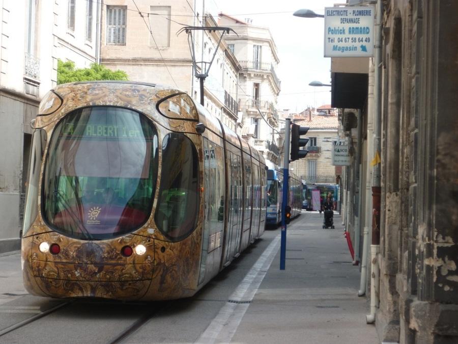 Rue André-Michel à Montpellier le 5 mai 2012