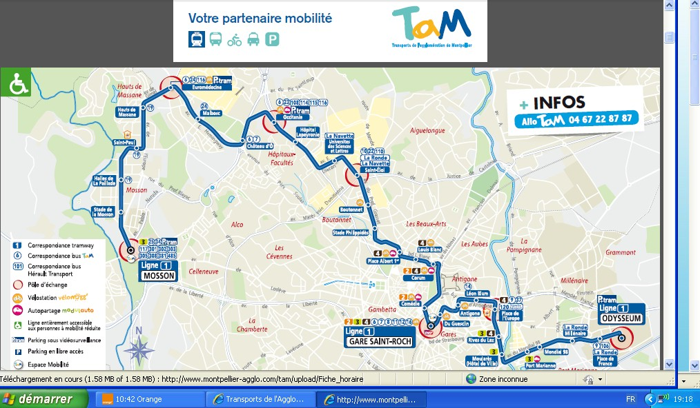 16 ao t 2013 tam met les fiches horaires hiver 2013 2014 - Tram horaire montpellier ...