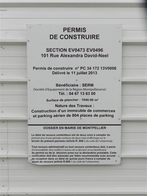 panneau d affichage l gal du permis de construire du. Black Bedroom Furniture Sets. Home Design Ideas