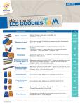 Liste et prix des goodies TaM avril 2014. Document : TaM