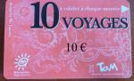 Ticket Tam 10 voyages avec mention 10 € rajoutée par Edouard Paris