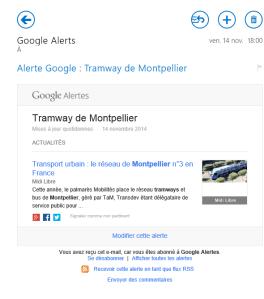 Copie d'écran du début de l'info récupérée par les robots de Google