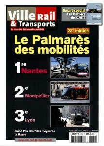 Couverture du magazine mensuel Ville Rail et Transports n°570 décembre 2014. 7 € chez votre marchand de journaux.