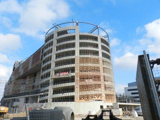Futur parking Le Nouveau Saint-Roch à Montpellier : ouverture programmée le lundi 1er juin 2015. Photo prise le jeudi 12 février 2015. Copyright : Anj34