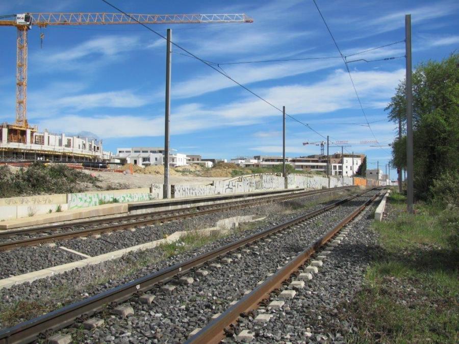 """Emplacement de la peut-être future station """"Les Grisettes"""" photographié le samedi 28 mars 2015. Copyright : Edouard Paris"""