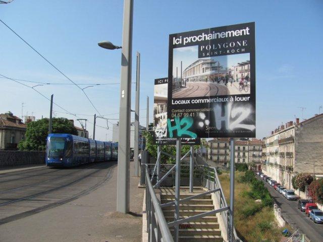 A Montpellier, les habitants de la rue Du Guesclin, sur la droite de la photo prise le jeudi 11 juin 2015, profiteront de l'ensoleillement et d'une vue dégagée pendant quelques années encore. Copyright : Edouard Paris