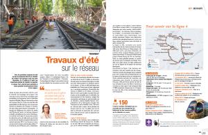 Page 22 et 23 de MMMmag du mois de juin 2015. Document : Montpellier Méditerranée Métropole