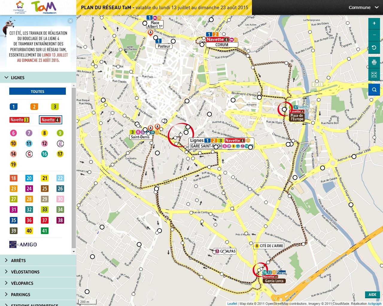 Ligne v1 bus - Horaire tram montpellier ...