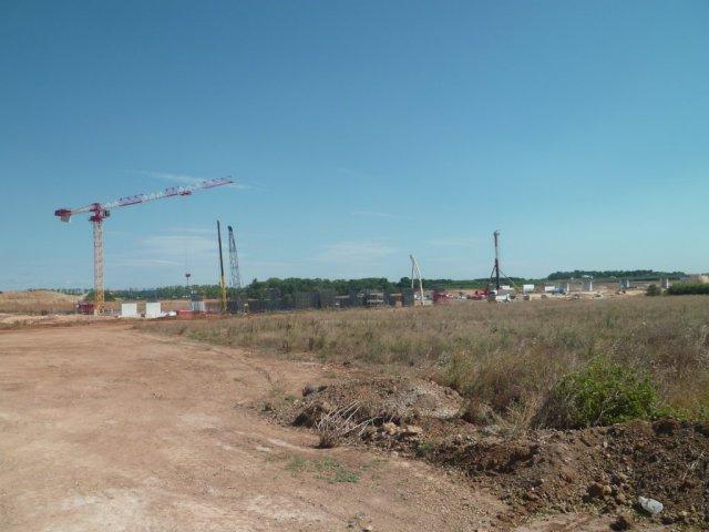 Site de la future gare TGV Montpellier Odysseum Sud de France photographié le mercredi 29 juillet 2015. Copyright : Edouard Paris