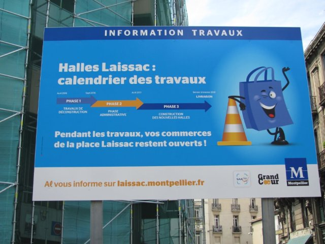L'ouverture des halles Alexandre-Laissac annoncées pour le dernier trimestre 2018. Photo prise le samedi 23 avril 2016. Copyright : Edouard Paris