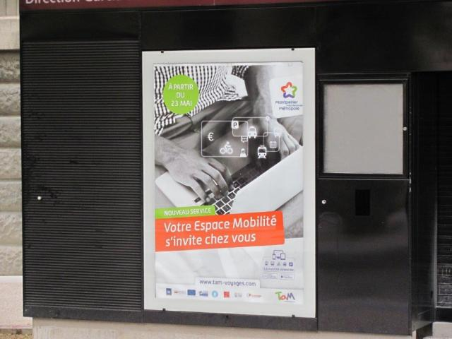 """Nouvel espace mobilité TaM Montpellier 3 M en ligne dès le lundi 23 mai 2016, des services pas si inédits que ça en France. Photo prise à la future station """"Albert 1er - Cathédrale"""", le dimanche 22 mai 2016. Copyright : Edouard Paris"""