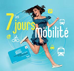 Affiche officielle des 7 jours de la mobilité TaM Montpellier 3M du vendredi 16 septembre au jeudi 22 septembre 2016. Document TaM Montpellier 3M (septembre 2016)