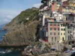 Vue partielle de Riomaggiore, un des cinq villages des Cinque Terre, le mercredi 26 août 2009. Copyright : Edouard Paris