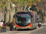 Le BHNS 708 Crealis Neo 18 opérant sur la ligne T1 Tango + est photographié sur le boulevard  de la Libération, le samedi 3 décembre 2016. Copyright : Edouard Paris
