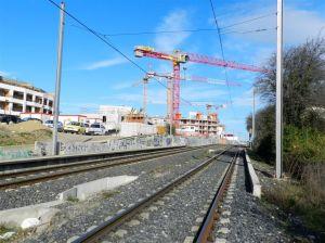 """Sur la ligne 2 de tramway, emplacement de l'éventuelle station """"Les Grisettes"""" photographié le samedi 4 février 2017. Copyright : Anje34"""