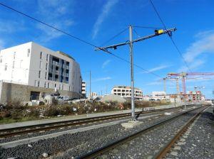 """Photo prise au sud-ouest de l'emplacement de l'éventuelle station """"Les Grisettes"""" sur la ligne 2, le samedi 4 février 2017. Copyright :  Anje34"""