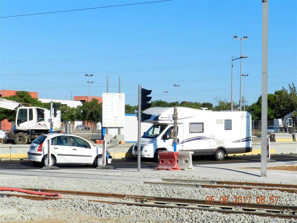 6 ao t 2017 ligne 2 le passage niveau de la route de s te saint jean de v das ne sera - Saint jean de vedas tram ...