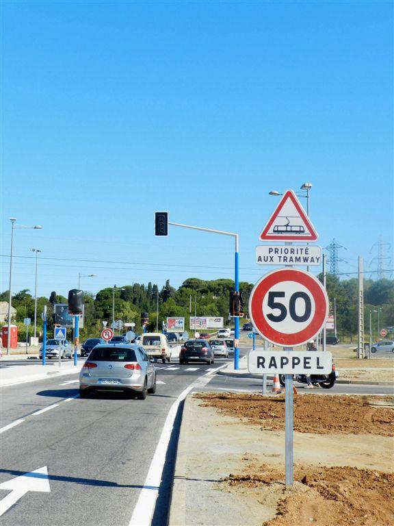 Nouvelle signalisation routi re route de s te saint for Garage sete route de montpellier