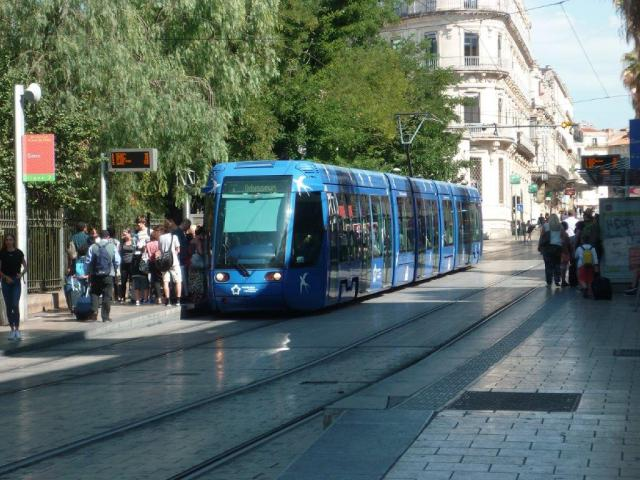 22 Juillet 2018 Entre La Gare De Montpellier Saint Roch Et La Gare