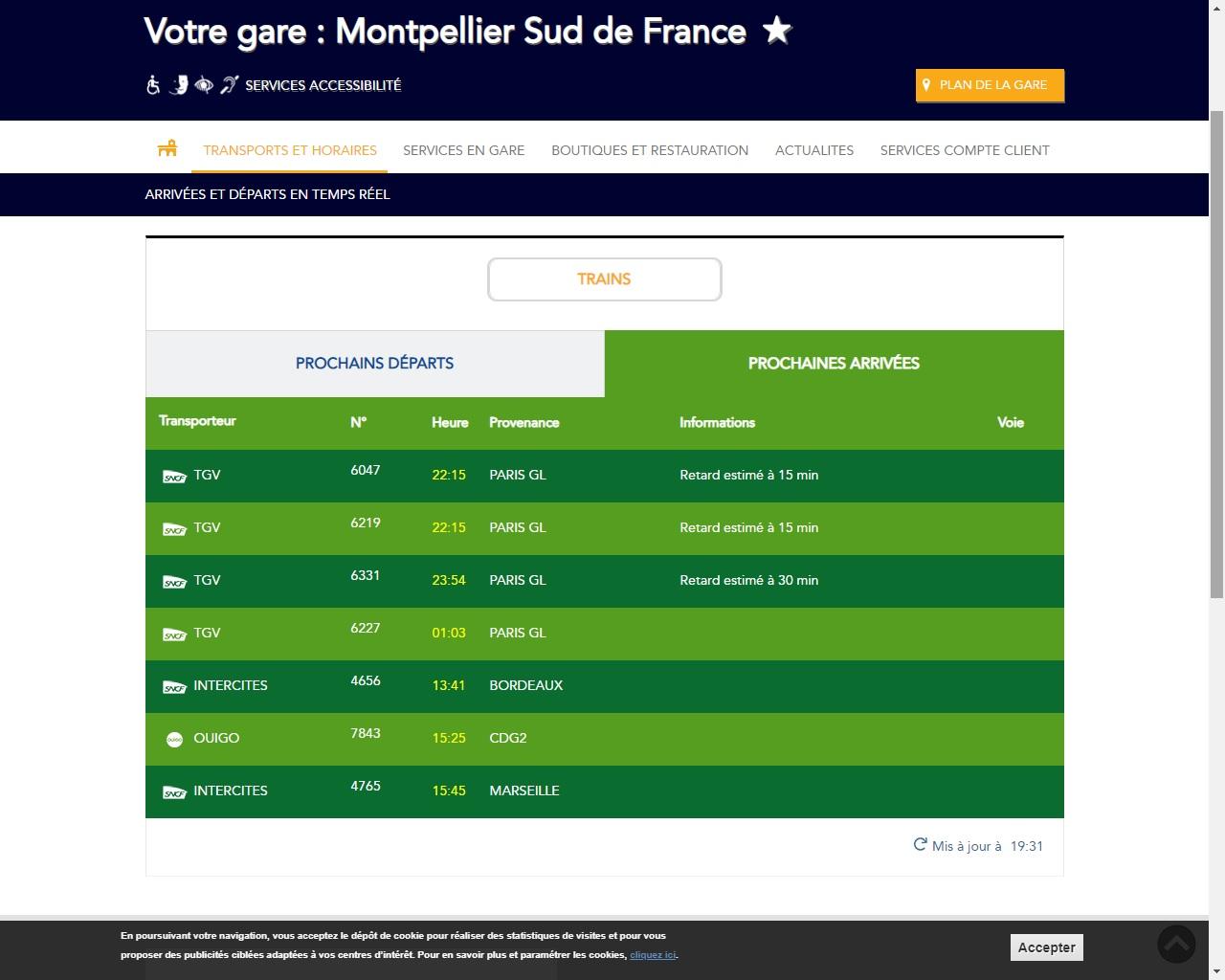 9 novembre 2018  u2013 gare de montpellier sud de france  selon